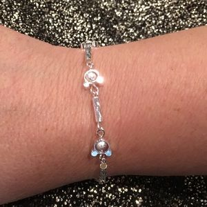 🆕🎁 Disney Mickey Mouse 925 Silver Bracelet
